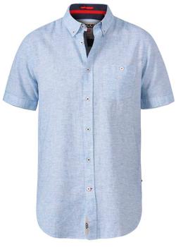 """Overhemd """"Reid"""" van merk undefined in de kleur sky blue, gemaakt van linen / organic cotton."""