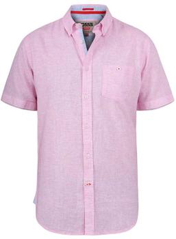 """Overhemd """"Reid"""" van merk D555 in de kleur pale pink, gemaakt van linen / organic cotton."""