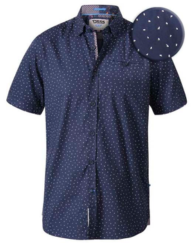 "Polo shirt ""Derwent"" van merk D555 in de kleur navy."