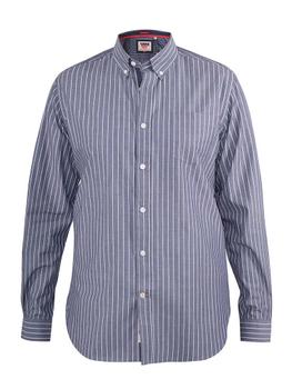 """overhemd """"Frankston"""" van merk D555 in de kleur grijs gestreept, gemaakt van 100% katoen."""
