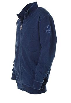 Met dit vest van Kitaro ben je altijd stijlvol gekleed. Door de soepele kwaliteit van de stof en de elastische kraag, mouwboorden, tailleband en twee steekzakken is dit een zeer prettig draagbaar vest. De sweatstof heeft een denimlook waardoor het vest een stoere look krijgt.