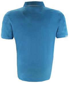 Piqué poloshirt met een geborduurde maritiem print op de borst, onderliggende contrastkleurige 3-knooplijst, een embleem links aan de zoom, elastisch rib-breisel aan de mouwen en een print op de rechter mouwboord. Het poloshirt is voorzien van mooi afgewerkte zij-splitten voor een optimaal draagcomfort.