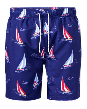 Zwembroek Apollo van merk D555 in de kleur navy, gemaakt van polyester.