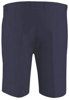 Elegante, effen short van Melvinsi, met 2 open steekzakken aan de voorzijde, 2 afsluitbare achterzakken, een binnen-buitenknoop en ritssluiting, riemlussen aan de tailleband. De short is gemaakt van zacht katoen, waardoor het een comfortabele short is om te dragen.