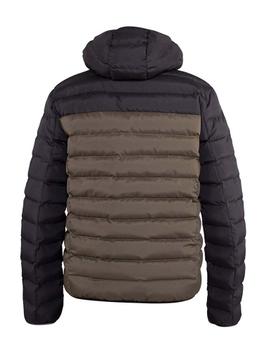 """Jack met capuchon """"Hewlett"""" van merk D555 in de kleuren zwart / khaki, gemaakt van polyester."""