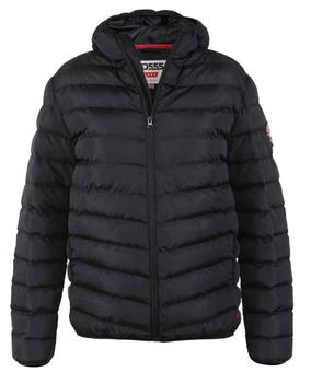 """Jack """"Tawton"""" van merk D555 in de kleur zwart, gemaakt van polyester."""