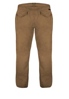 Greyes chino met ritssluiting en knoop, tailleband met riemlussen, 2 steekzakken voor en 2 achterzakken met knopen. Beenlengte: 36 Inch