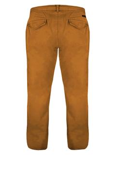 Greyes Chino met ritssluiting en knoop, tailleband met riemlussen, 2 steekzakken voor en 2 achterzakken met knopen.Beschikbare lengte: 36 Inch
