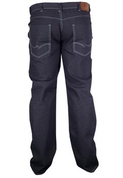 Greyes jeans met ritssluiting en riemlussen. Twee ruime achterzakken met contrasterende stiksel en rechte pijpen. 2 Steekzakken voor, waarvan 1 met muntzakje.