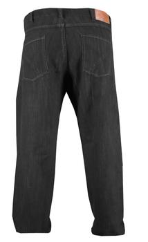Zwarte Jeans van Geyes met ritssluiting en riemlussen. Twee ruime achterzakken met contrasterend stiksel en rechte pijpen. 2 Steekzakken voor, waarvan 1 met extra zakje.Beenlengte: 34 Inch (88 cm)