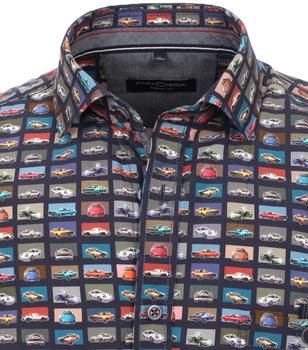 overhemd met auto-print van merk CASA MODA in de kleur auto-print, gemaakt van 100% katoen. Door de nonchalante snit en de puur katoenen stof overtuigt dit modieuze vrijetijdsshirt met zijn comfortabele draageigenschappen. Het stijlvolle model heeft een modieuze print en is in het dagelijkse leven de perfecte metgezel voor de modebewuste man. Combineer het comfortabel met jeans of chino's en begin de dag in stijl.