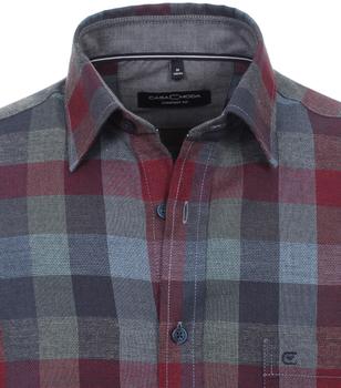 overhemd van merk CASA MODA in de kleur rood, gemaakt van 100% katoen.