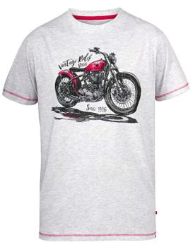 """vintage T-Shirt """"Miles"""" van merk D555 in de kleur off white marl, gemaakt van organic cotton/polyester."""