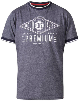 """T-Shirt """"Alister"""" van merk undefined in de kleur organic cotton, gemaakt van navy stripe."""
