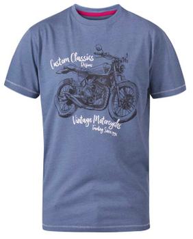 """T-shirt """"Conor"""" van merk undefined in de kleur denim marl, gemaakt van organic cotton / polyester."""