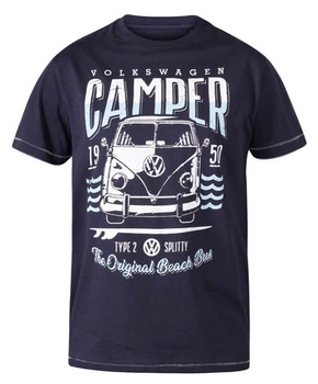 "T-shirt ""Gorton"" van merk D555 in de kleur navy, gemaakt van organic cotton.
