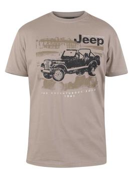 "T-shirt ""Wolverton"" Official Jeep Printed T-Shirt van merk D555 in de kleur taupe, gemaakt van 100% cotton."