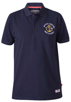 "Polo shirt ""Jefferson"" van merk undefined in de kleur navy, gemaakt van organic cotton."