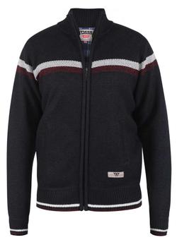"""Jumper """"Dennington"""" van merk D555 in de kleur navy marl, gemaakt van polyester."""
