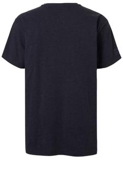 Stoer T-shirt met print en ronde hals van het merk North 56°4. Donkerblauw shirt met grijs bruine print, staat erg leuk op een spijkerbroek.