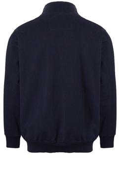 Sweatvest van het merkNorth 56.4 met een deelbare rits, ronde hals, trico boord en logo op de voorkant.