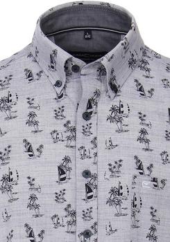 Leisure hemd van merk Casa Moda in de kleur lichtblauw, gemaakt van 100% katoen.