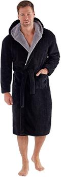"""Badjas """"Newquay"""" van merk D555 in de kleur navy, gemaakt van super soft polyester."""