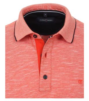 Polo van merk CASA MODA in de kleur oranje, gemaakt van 100% katoen. Dit poloshirt is een absolute klassieker die in geen enkele garderobe mag ontbreken. Dankzij de sportieve look en het klassieke ontwerp kan het met veel vrijetijdslooks worden gedragen en op verschillende manieren worden gecombineerd. De polo is gemaakt van puur katoen en is de ideale metgezel in het dagelijks leven. Combineer het comfortabel met jeans of slim met chino's en een modieus casual look is gegarandeerd.