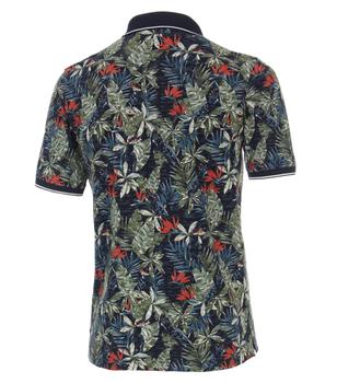 Polo shirt van merk CASA MODA in de kleur blauw, gemaakt van 100% katoen.