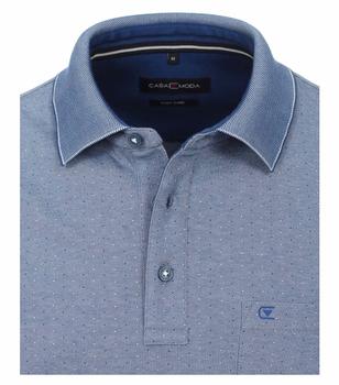 Polo met fijn patroontje van merk CASA MODA in de kleur blauw, gemaakt van poly cotton. Dit effen poloshirt is gemaakt van een aangename katoenmix en overtuigt door een hoog draagcomfort en een tijdloos design. De knoopsluiting en de opgestikte borstzak voegen modieuze accenten toe aan het eenvoudige model en versterken de look van de polo . Eenvoudig en veelzijdig kan worden gecombineerd, gebruik het om stijlvolle casual outfits te creëren. Als absolute must-have onder de basics mag hij niet meer ontbreken in je garderobe.