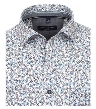 Overhemd van merk CASA MODA in de kleur blauw, gemaakt van 100% katoen. Dit modieuze vrijetijdsoverhemd is gemaakt van puur katoen en is de ideale metgezel in het dagelijks leven. De all-over print voegt modieuze accenten toe en verbetert stijlvol elke vrijetijdslook. Een echte must have voor de modebewuste man. Combineer jeans of chino's met dit shirt dan wordt elke outfit een echte eye catcher.