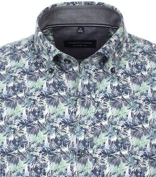 Overhemd met korte mouw van merk CASA MODA in de kleur groen, gemaakt van 100% katoen. Dankzij de comfortabele snit en de zuivere katoenen stof maakt dit modieuze vrijetijdsshirt indruk met zijn aangename draageigenschappen. De bloemenprint is een echte blikvanger die elke outfit in de schijnwerpers zet. Het stijlvolle model is veelzijdig te combineren en is een perfecte alledaagse metgezel voor de modebewuste man.
