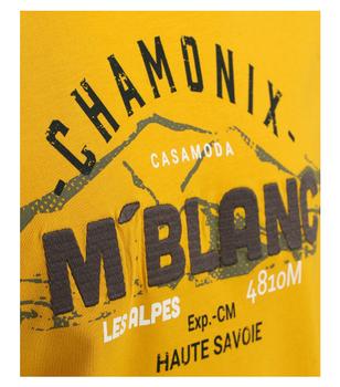 T-shirt van merk CASA MODA in de kleur geel, gemaakt van 100% katoen. Dit T-shirt is gemaakt van puur katoen en is zeer comfortabel om te dragen. Het sportieve design met trendy logo print is een perfecte aanvulling op elke sportieve look. Of het nu met jeans, chino's of shorts is, dit T-shirt is op vele manieren te combineren en is een absolute must have voor elke garderobe.