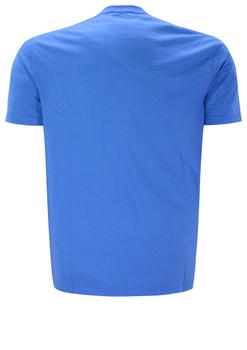 Blauw T-shirt van Casa Moda met leuke print. Het shirt is gemaakt van een zachte stof voor een optimaal draagcomfort. Dit shirt is ideaal te combineren met diverse soorten jeans en shorts. Erg leuk voor de zomer.