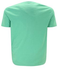 Groen T-shirt van Casa Moda met leuke print. Het shirt is gemaakt van een zachte stof voor een optimaal draagcomfort. Dit shirt is ideaal te combineren met diverse soorten jeans en shorts. Erg leuk voor de zomer.