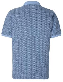 Pique poloshirt van Casa Moda met contrasterende kleur aan de kraag en mouwen en een contrasterende stof achter de 3-knooplijst. Het poloshirt is voorzien van mooi afgewerkte zij-splitten voor een optimaal draagcomfort.