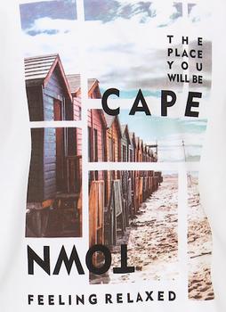T-shirt van Casa Moda met Cape Town print