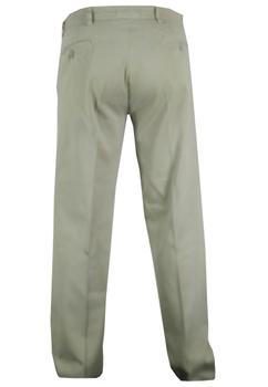 Allsize chino met een tailleband met riem lussen, ritssluiting en knoop. Twee steekzakken voor en twee achterzakken met knopen. Beschikbare lengte: 35 Inch