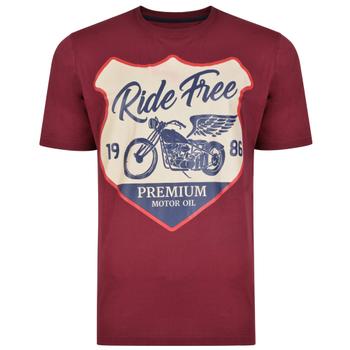 T-shirts van KAM in een duo voordeel-verpakking met leuke print. Set van 2 t-shirts, in de kleuren burgundy & charcoal.
