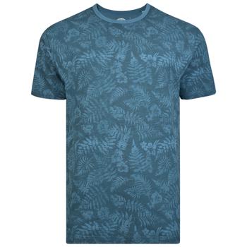 KAM T-shirt - Leaf Print Denim -  - Melvinsi