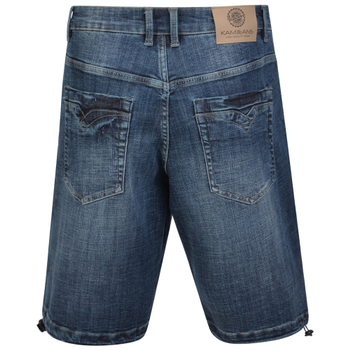 Short van KAM in de kleur Mid Used Denim.