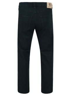 Zwarte stretch jeans met rechte pijpen, een rits-knoopsluiting, 2 steekzakken voor waarvan 1 met een muntzakje en 2 achterzakken met contrasterend stiksel.  Beenlengte: 34 Inch