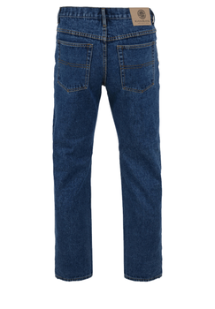 Stonewash regular fit jeans met een rits-knoopsluiting, 2 steekzakken voor waarvan 1 met een muntzakje en 2 achterzakken me contrasterende stiksel.
