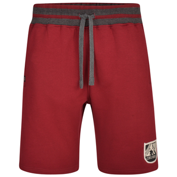 Jogging short van KAM in de kleur burgundy.