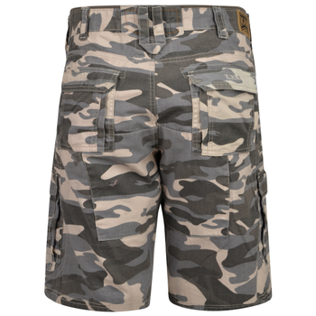 Cargo short van KAM Jeanswear met camouflage print
