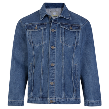 KAM Western Denim Jacket Stone Wash
