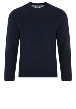 Modieuze KAM JEANSWEAR sweater met ronde hals in de kleur navy.