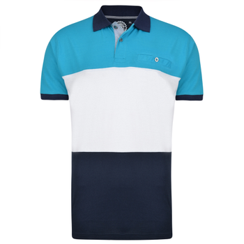 KAM Polo Jersey Stripe Breeze