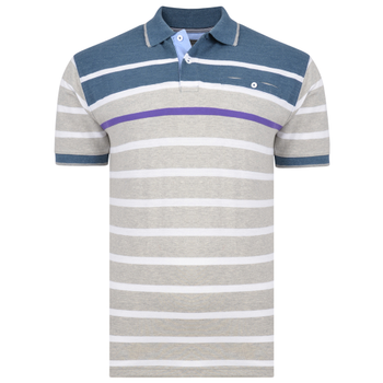 KAM Polo Jersey Stripe Demin -  - Melvinsi