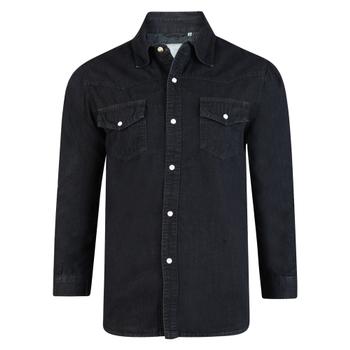 KAM Western Denim Shirt Black -  - Melvinsi